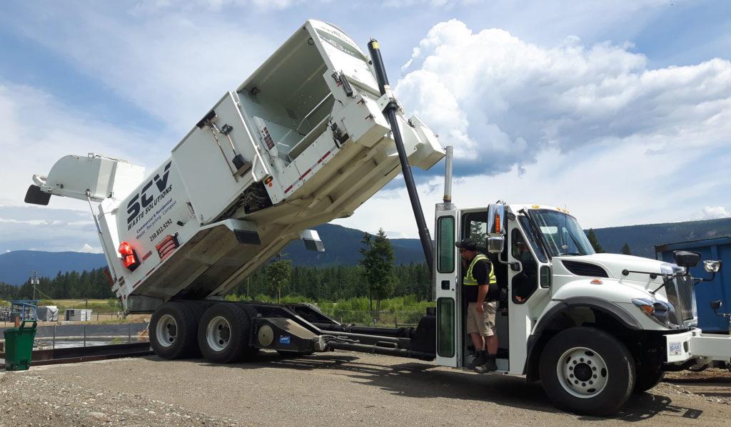 Side-load truck unloading